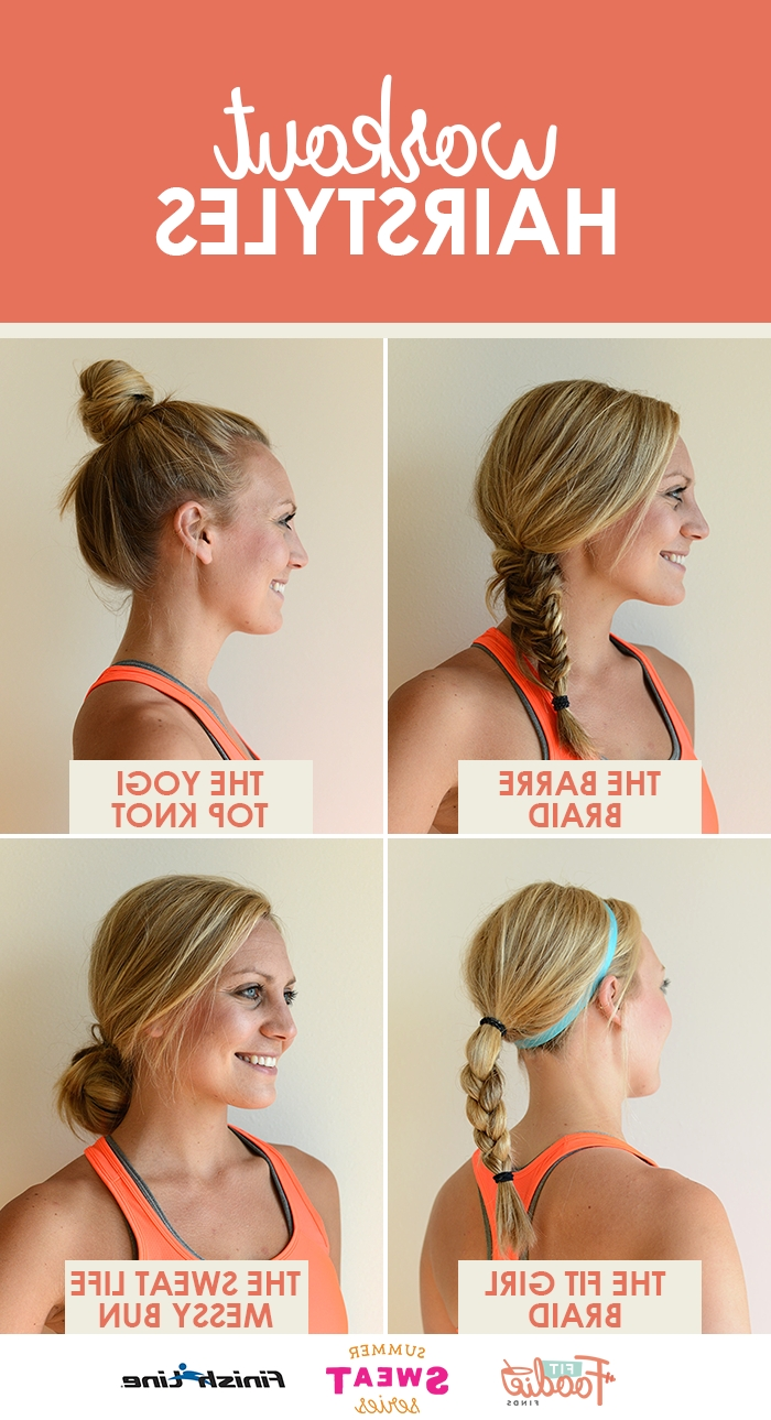 06 Cute Braided Hairstyles For Girls | Workout Hairstyles, Workout Intended For Sporty Updo Hairstyles For Short Hair (Gallery 6 of 15)