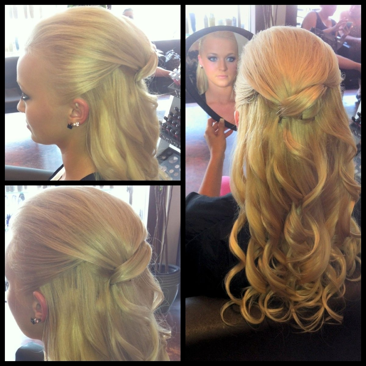 1/2 Updo Style Thin Blonde Hair With Clip In Hair Extensions For Hair Extensions Updo Hairstyles (View 13 of 15)