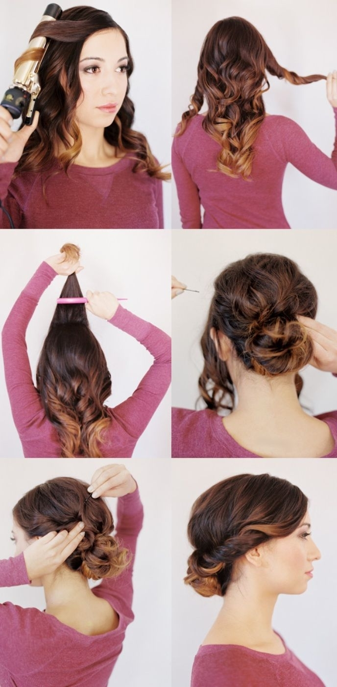 10 Best Medium Length Hairstyles For Curly Hair Images On Pinterest For Quick Updo Hairstyles For Curly Hair (View 2 of 15)