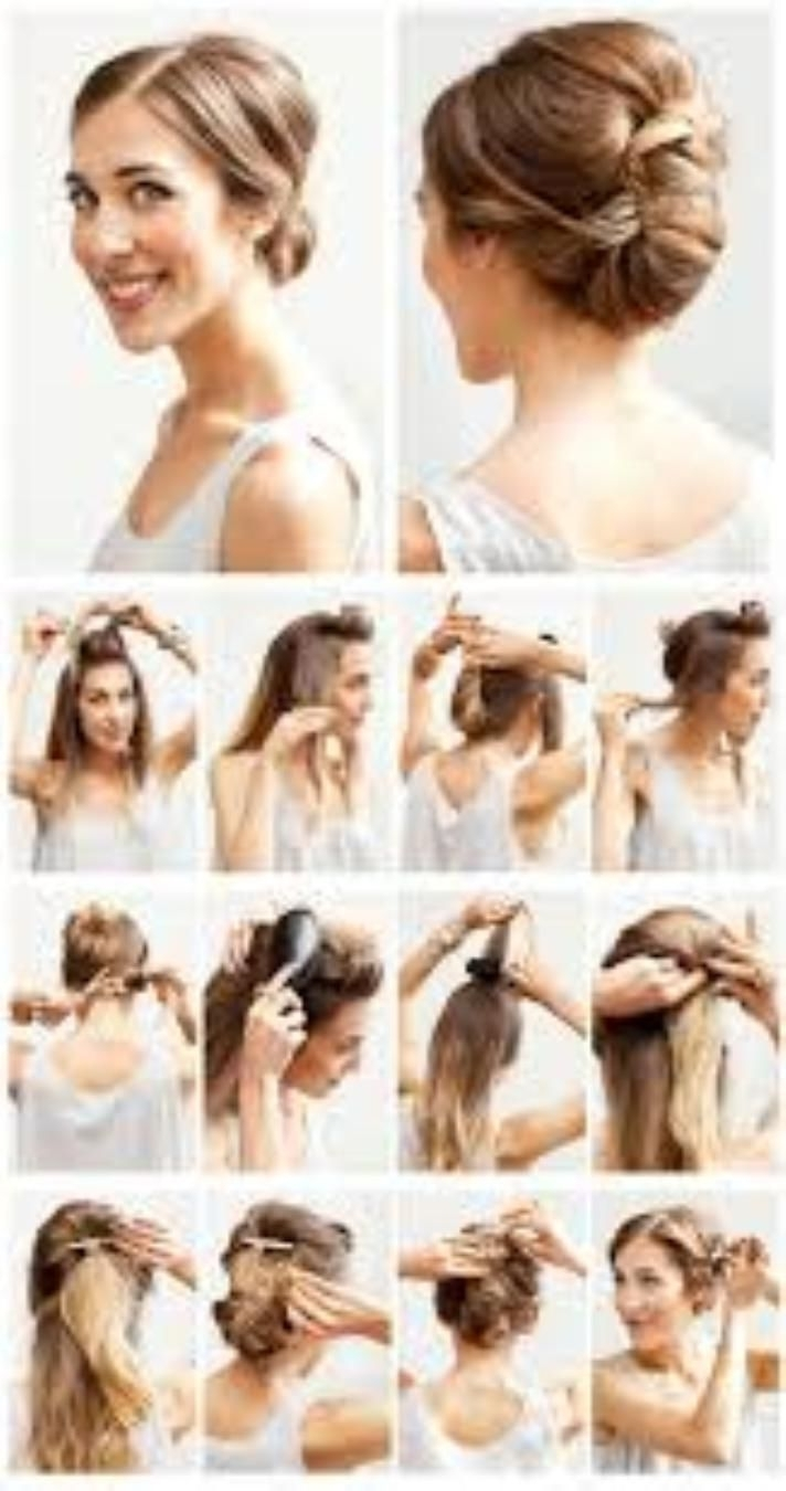 10 Best Medium Length Hairstyles For Curly Hair Images On Pinterest With Regard To Easy Do It Yourself Updo Hairstyles For Medium Length Hair (View 13 of 15)