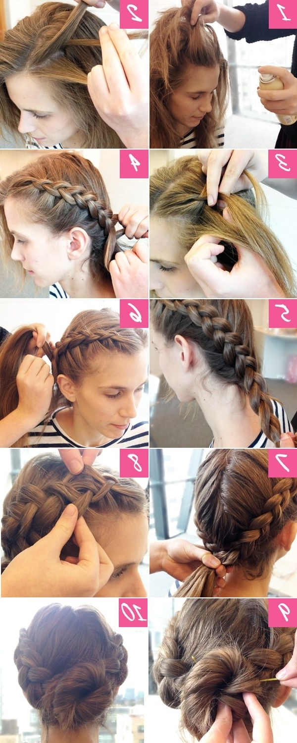 10 Easy Steps To A Double Braided Bun | Super Easy, Easy Braided Within Easy Braided Updo Hairstyles (View 7 of 15)