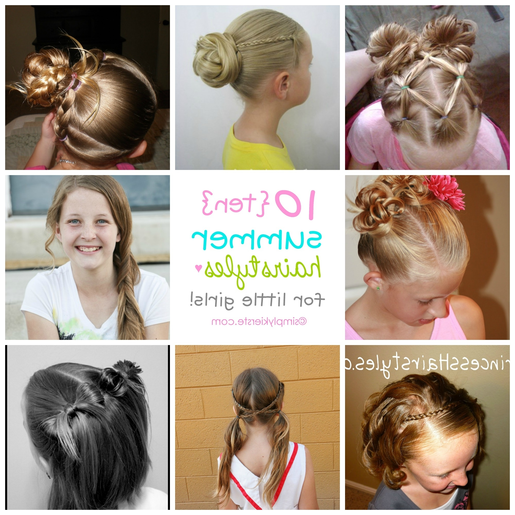 10 Fun Summer Hairstyles For Little Girls | Simplykierste Throughout Updo Hairstyles For Little Girl With Short Hair (View 1 of 15)