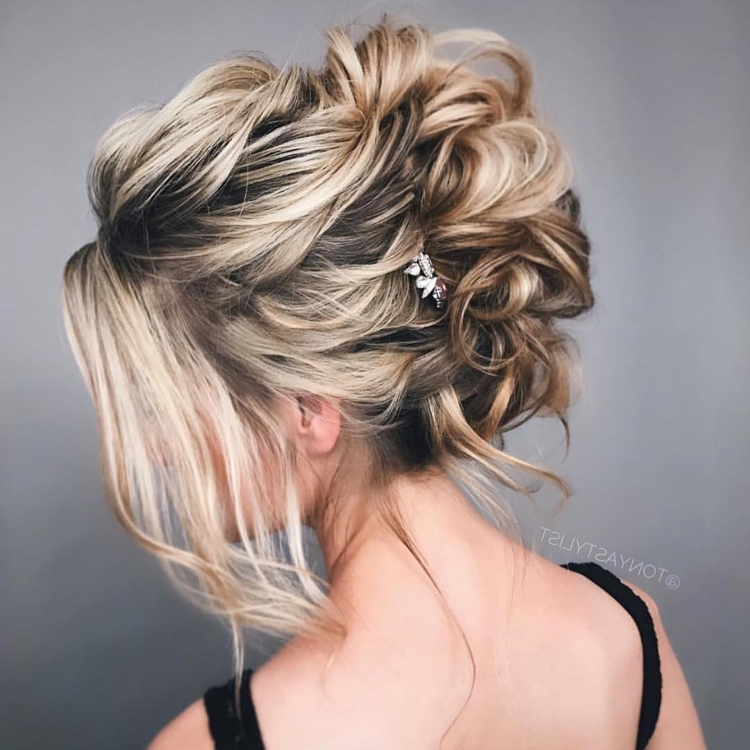10 New Prom Updo Hair Styles For 2018 – Gorgeously Creative New Looks Inside Blonde Updo Hairstyles (View 1 of 15)
