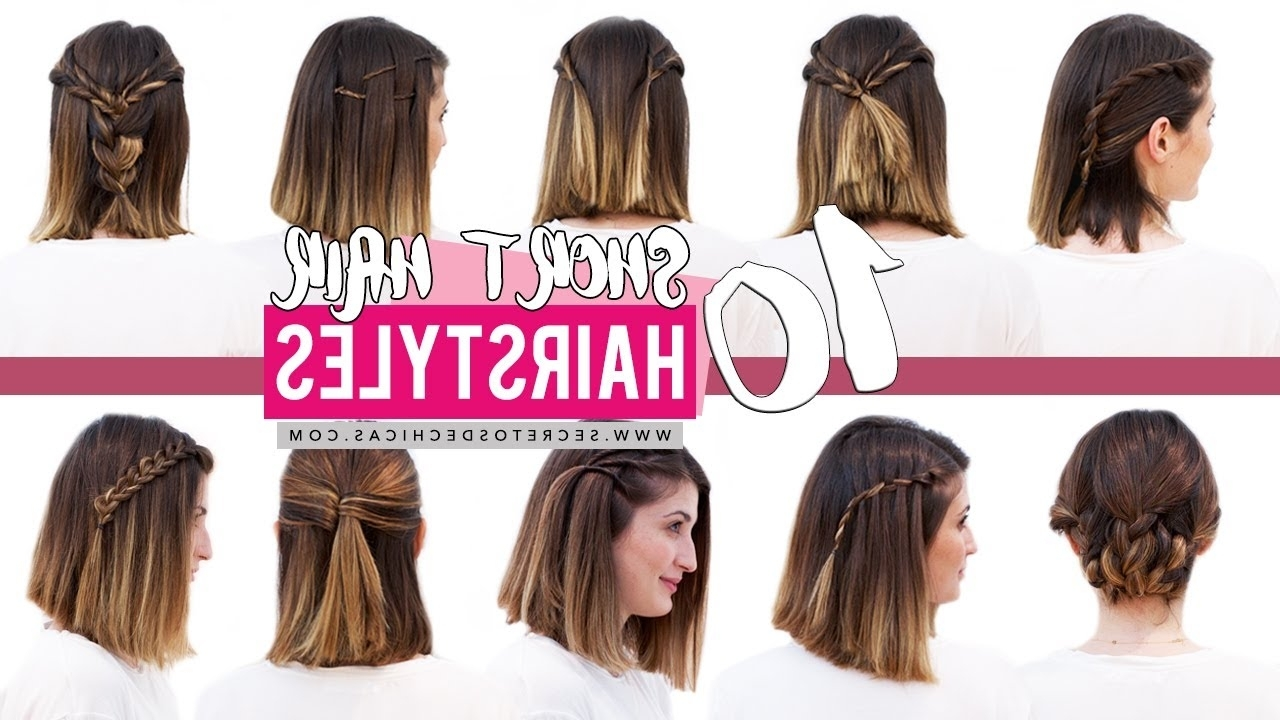 10 Quick And Easy Hairstyles For Short Hair | Patry Jordan – Youtube In Super Easy Updos For Short Hair (View 3 of 15)