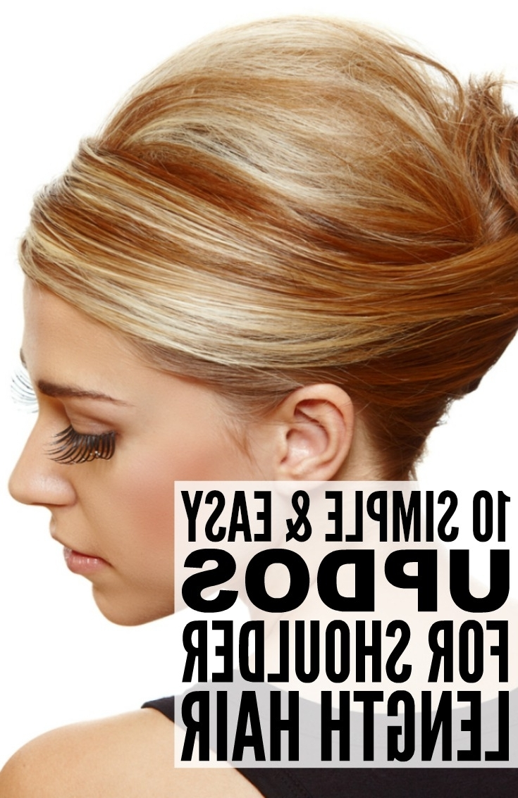10 Simple Updos For Shoulder Length Hair Regarding Easy Hair Updos For Medium Length Hair (View 1 of 15)