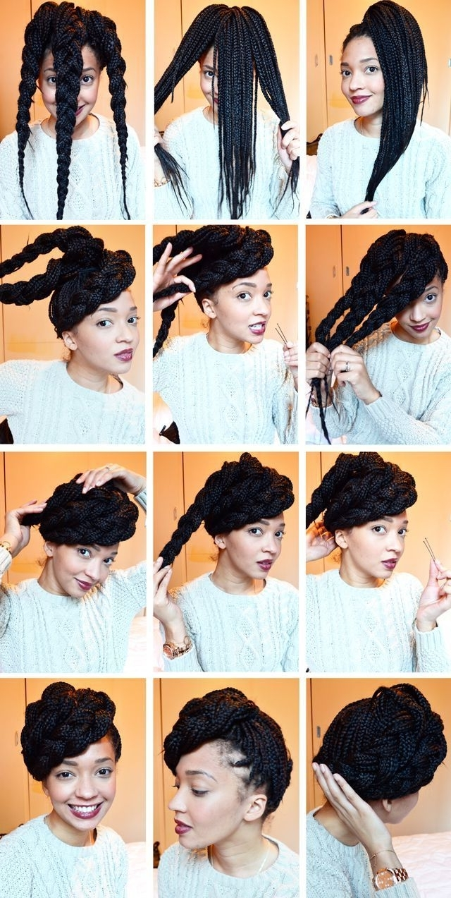 10 Tutorials For Natural Hair Updos That Are Perfect For Prom | Updo With Regard To Box Braids Updo Hairstyles (View 2 of 15)
