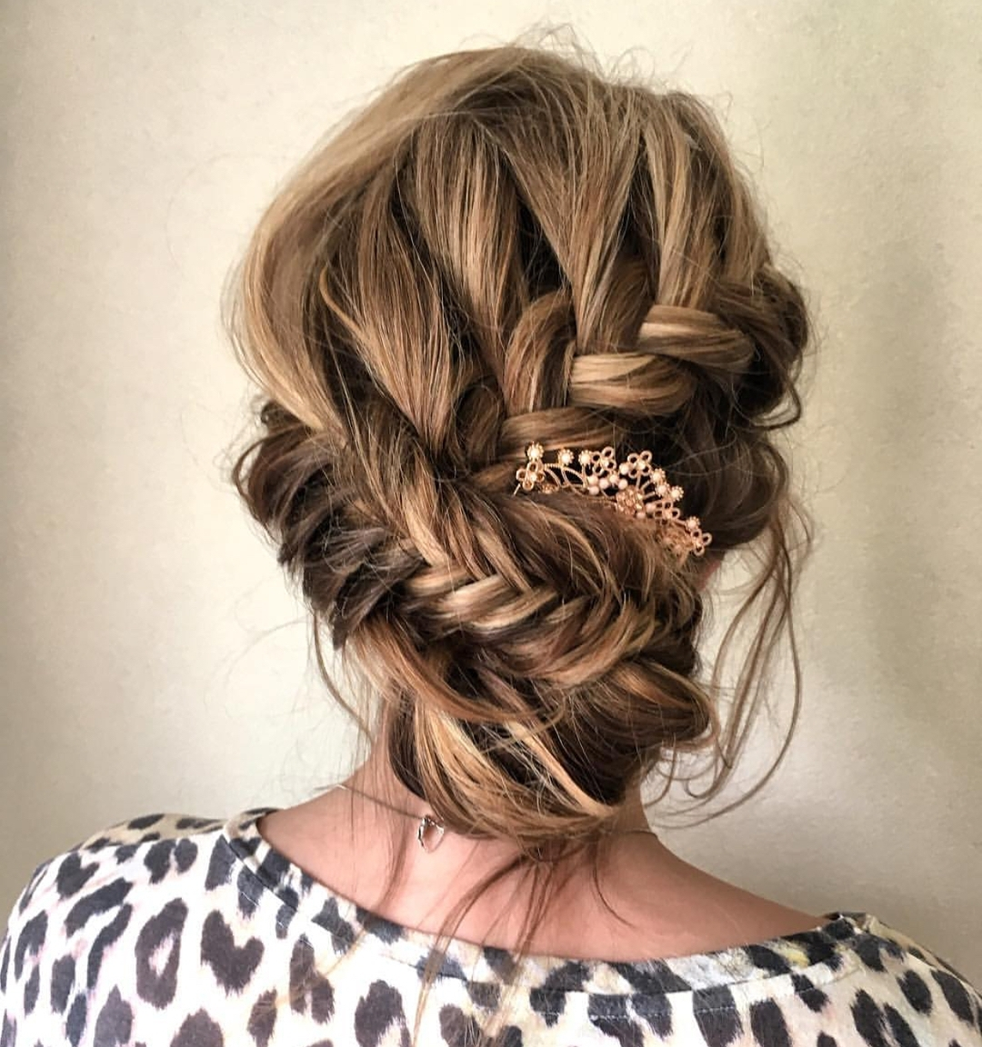10 Updos For Medium Length Hair From Top Salon Stylists, 2018 Prom Updo Inside Casual Updos For Medium Length Hair (View 2 of 15)
