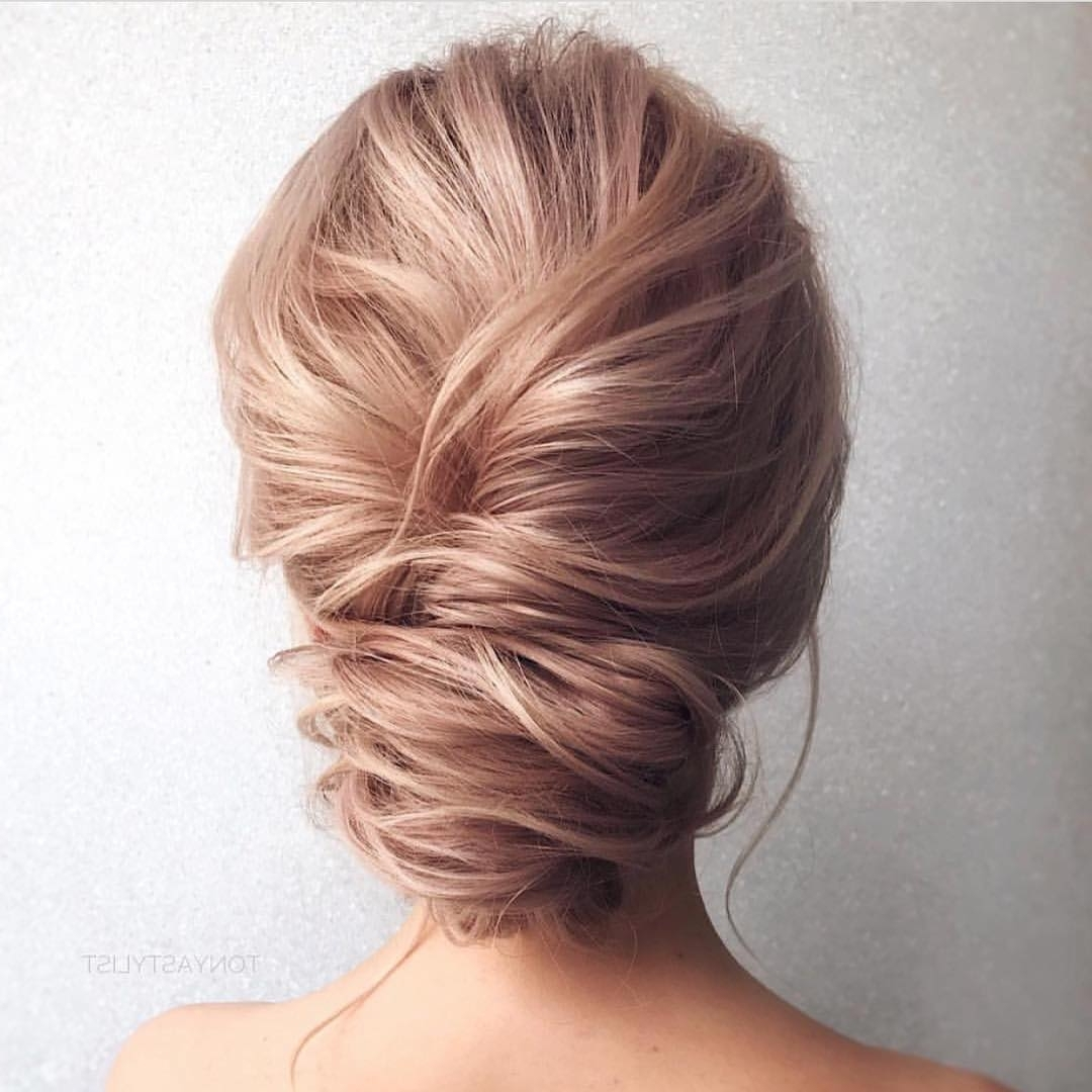 10 Updos For Medium Length Hair From Top Salon Stylists, 2018 Prom Updo Intended For Blonde Updo Hairstyles (View 3 of 15)
