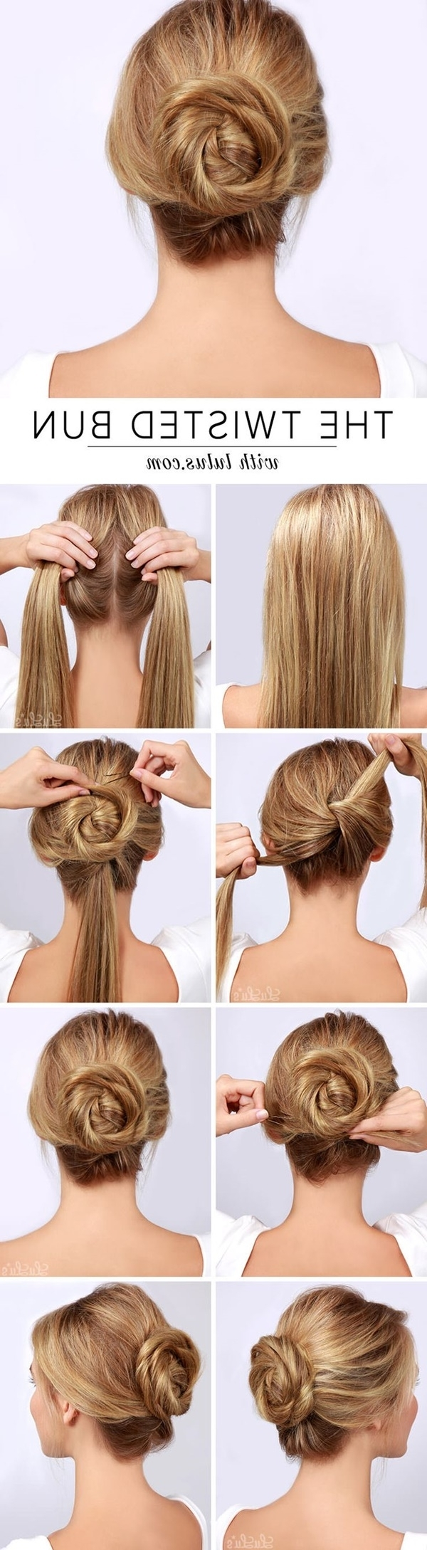 101 Cute & Easy Bun Hairstyles For Long Hair And Medium Hair For Easy Updo Hairstyles For Medium Hair To Do Yourself (View 2 of 15)