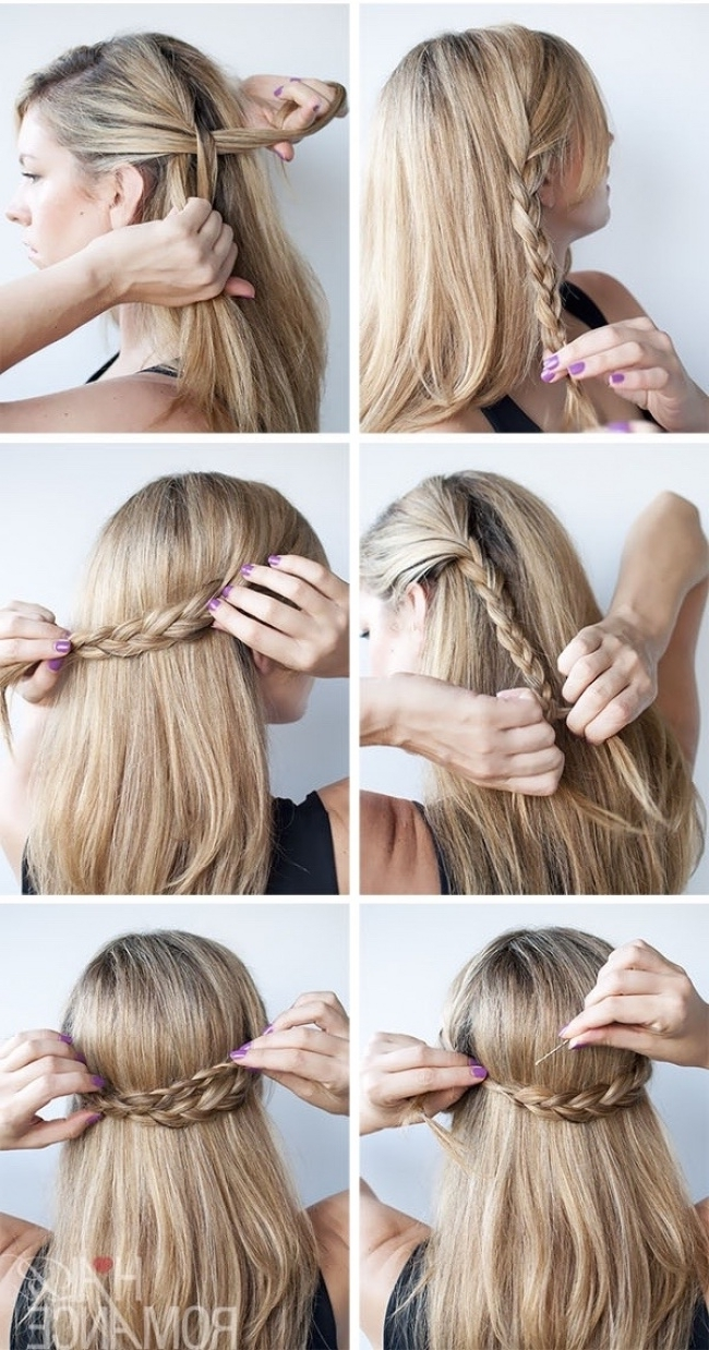 12 Cute Hairstyle Ideas For Medium Length Hair Pertaining To Half Updos For Shoulder Length Hair (View 1 of 15)