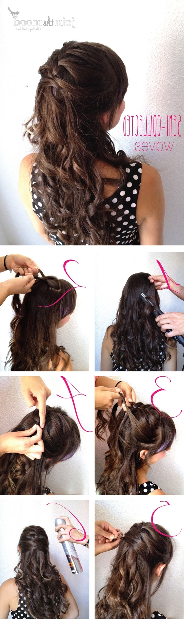 13 Half Up Half Down Hair Tutorials Inside Diy Half Updo Hairstyles For Long Hair (View 3 of 15)