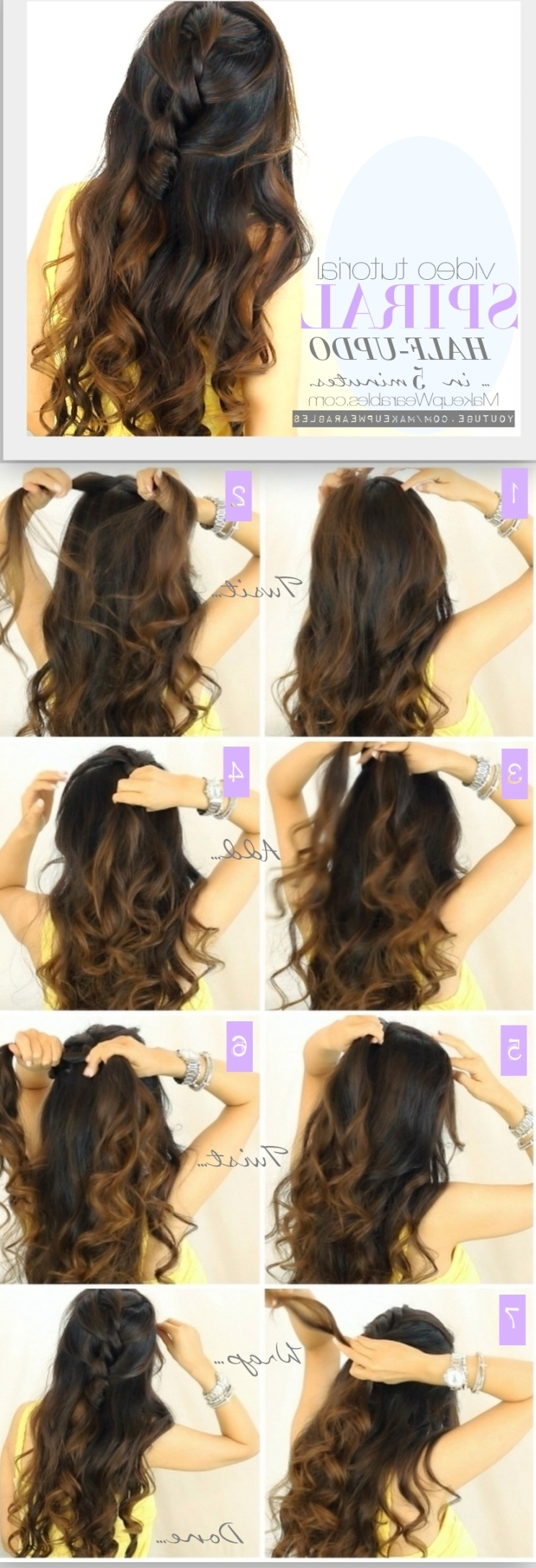13 Half Up Half Down Hair Tutorials Pertaining To Diy Half Updo Hairstyles For Long Hair (View 4 of 15)