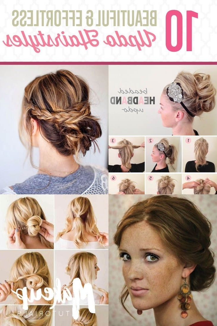 13 Updo Hairstyle Tutorials For Medium Length Hair | Updo, Hair Regarding Easy Do It Yourself Updo Hairstyles For Medium Length Hair (View 2 of 15)