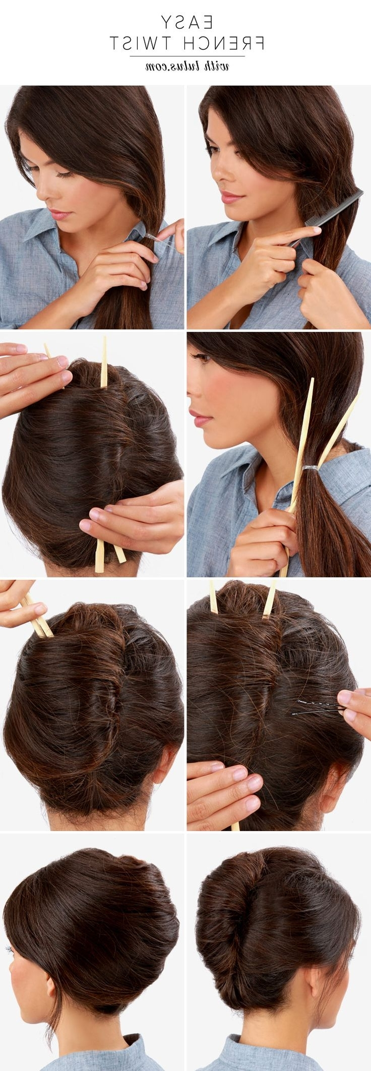14 Fabulous French Twist Updos – Pretty Designs Within French Twist Updo Hairstyles (View 6 of 15)
