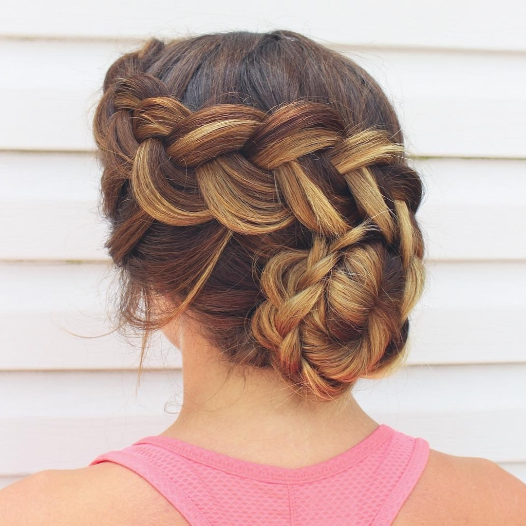 14 Prom Hairstyles For Long Hair That Are Simply Adorable Pertaining To Braided Bun Updo Hairstyles (View 7 of 15)