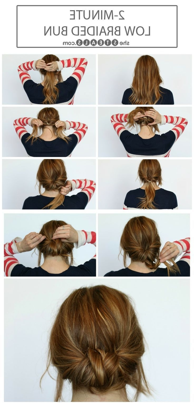 14 Simple Hair Bun Tutorial To Keep You Look Chic In Lazy Days Inside Fast Updo Hairstyles For Short Hair (View 1 of 15)