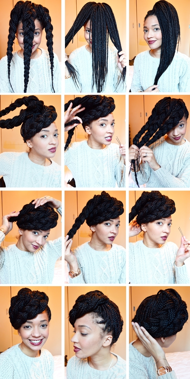 15 Box Braids Hairstyles That Rock | More Throughout Single Braid Updo Hairstyles (View 1 of 15)