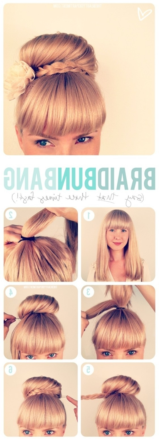 15 Braided Updo Hairstyles Tutorials – Pretty Designs Pertaining To High Updo Hairstyles For Medium Hair (View 8 of 15)