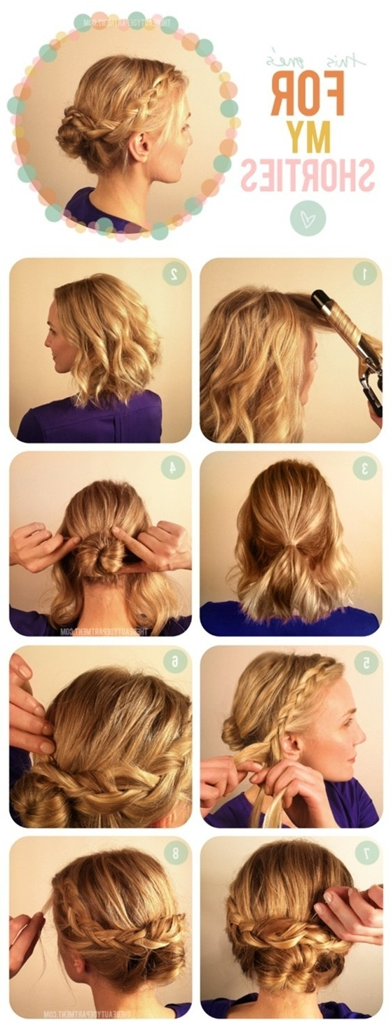 15 Braided Updo Hairstyles Tutorials – Pretty Designs Regarding Easy Updo Hairstyles For Medium Hair (View 3 of 15)