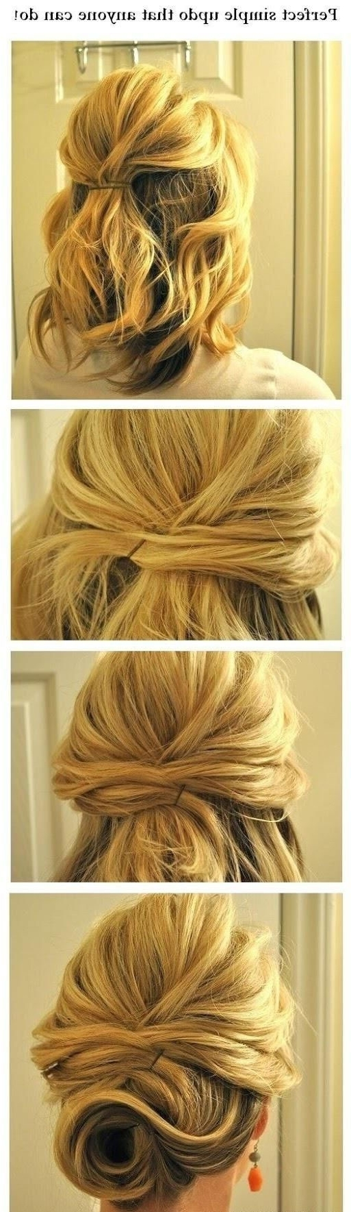 15 Cute And Easy Hairstyle Tutorials For Medium Length Hair – Gurl Intended For Easy Updos For Thick Medium Length Hair (View 1 of 15)