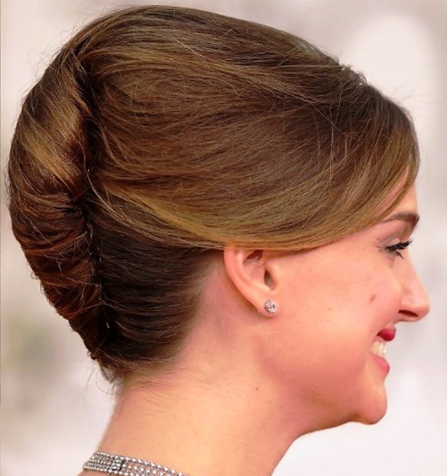 15 Formal Hairstyles For Medium Hair Length For French Twist Updo Hairstyles For Medium Hair (View 2 of 15)