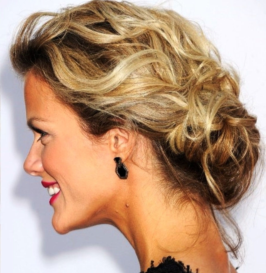 15 Formal Hairstyles For Medium Hair Length Within Loose Updo Hairstyles (View 11 of 15)