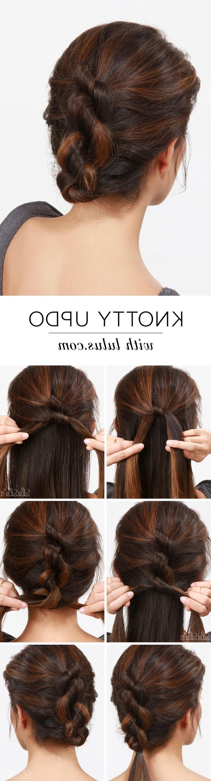 157 Best Hair Tutorials Images On Pinterest | Hairstyle Ideas Pertaining To Easy Updos For Medium Thin Hair (View 5 of 15)