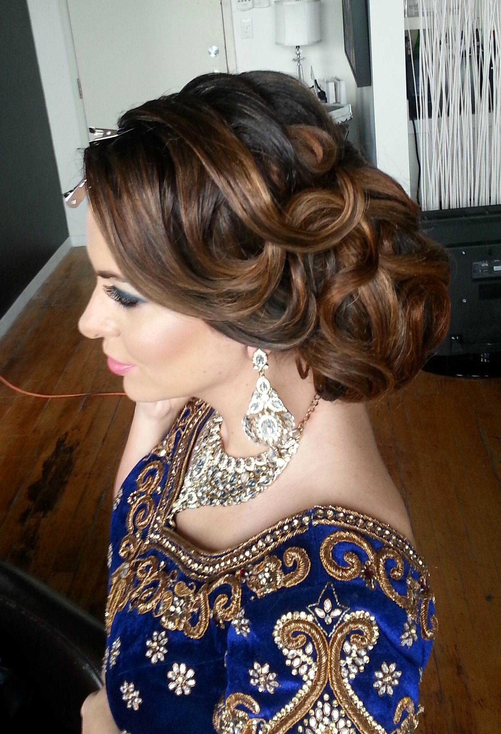 16 Glamorous Indian Wedding Hairstyles | Indian Wedding Hair, Updo Regarding Indian Updo Hairstyles (View 5 of 15)