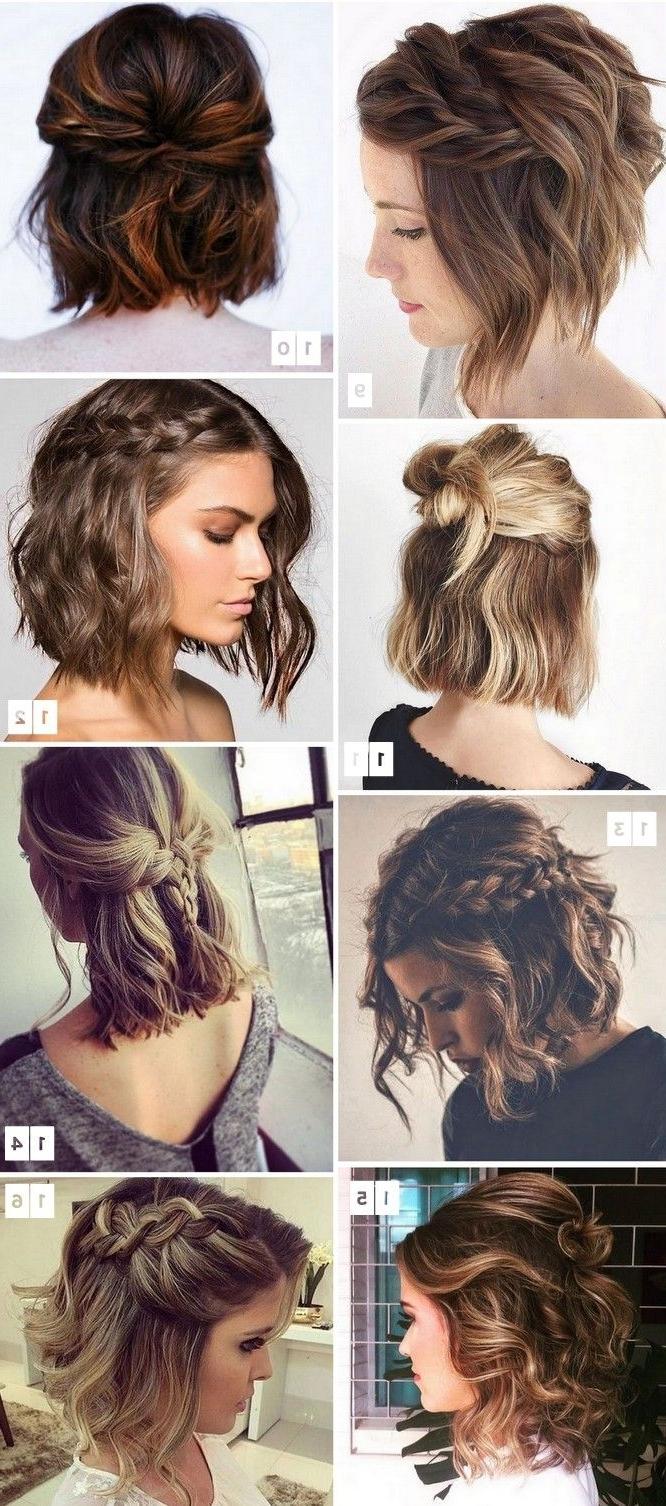 16 Penteados Para Cabelos Curtos Populares No Pinterest | Hair Style For Wedding Updos Shoulder Length Hairstyles (View 1 of 15)