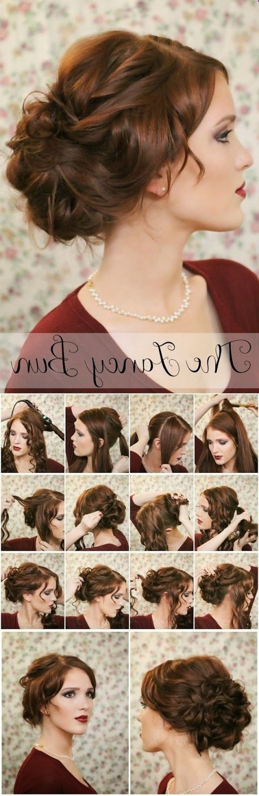 16 Pretty And Chic Updos For Medium Length Hair – Pretty Designs Regarding Easy Diy Updos For Medium Length Hair (View 3 of 15)
