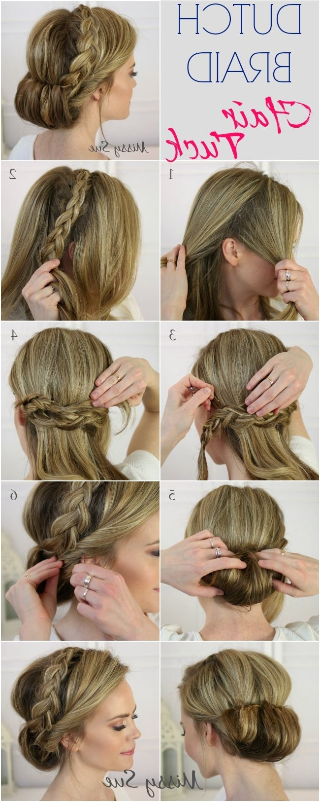 17 Stunning Dutch Braid Hairstyles With Tutorials – Pretty Designs Within Braided Crown Updo Hairstyles (View 3 of 15)