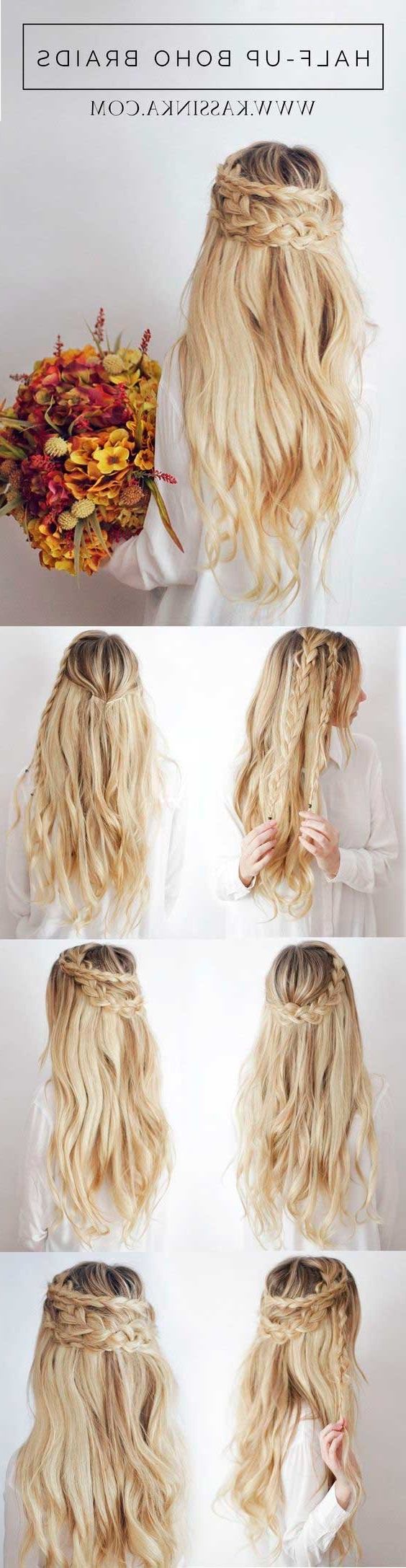 18 Half Up/half Down Hairstyle Tutorials Perfect For Prom – Gurl For Diy Half Updo Hairstyles For Long Hair (View 6 of 15)