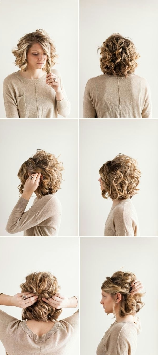 18 Pretty Updos For Short Hair: Clever Tricks With A Handful Of Pertaining To Elegant Updo Hairstyles For Short Hair (View 2 of 15)