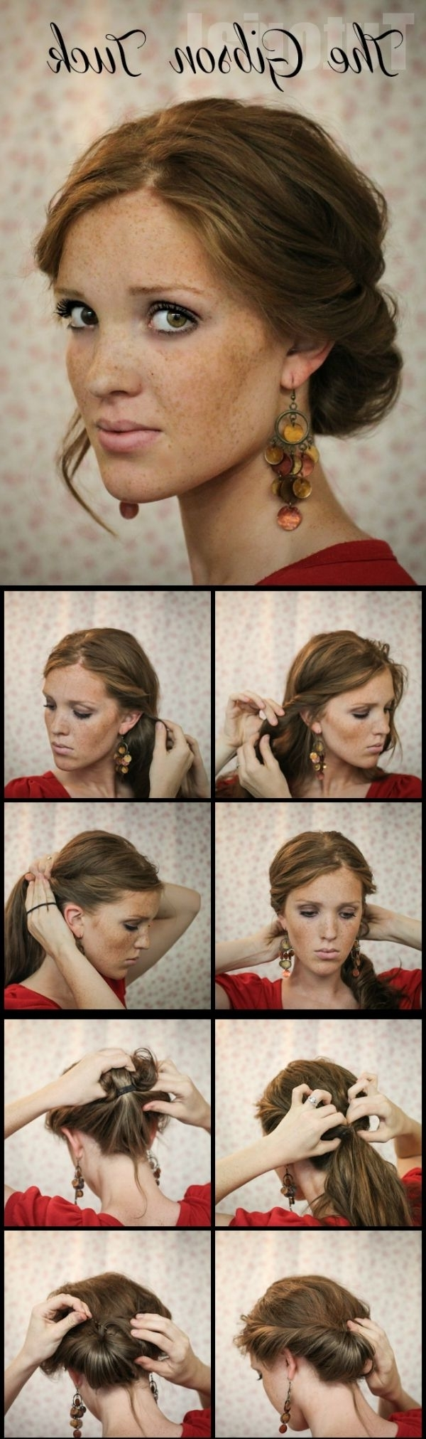 181 Best Updo Hairstyles Images On Pinterest | Chignons, Hair Dos Regarding Easy Vintage Updo Hairstyles (View 5 of 15)