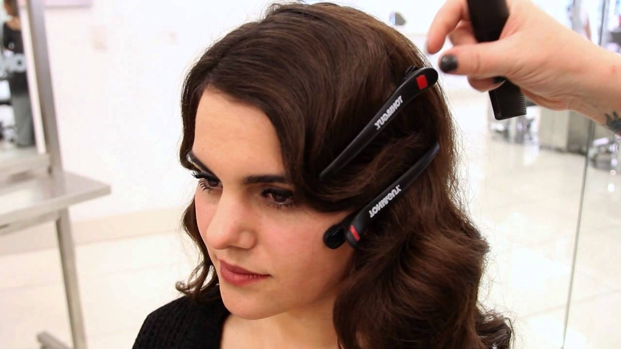 1920s Inspired Faux Bob | Updo Hairstyle Tutorial – Youtube Within Finger Waves Long Hair Updo Hairstyles (View 13 of 15)
