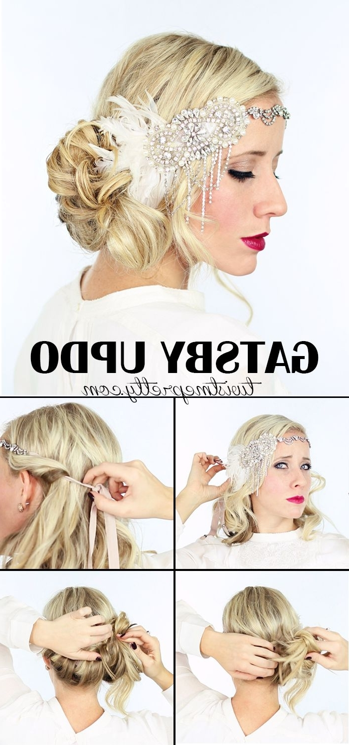 2 Gorgeous Gatsby Hairstyles For Halloween Or A Wedding | Gatsby For Easy Vintage Updo Hairstyles (View 12 of 15)