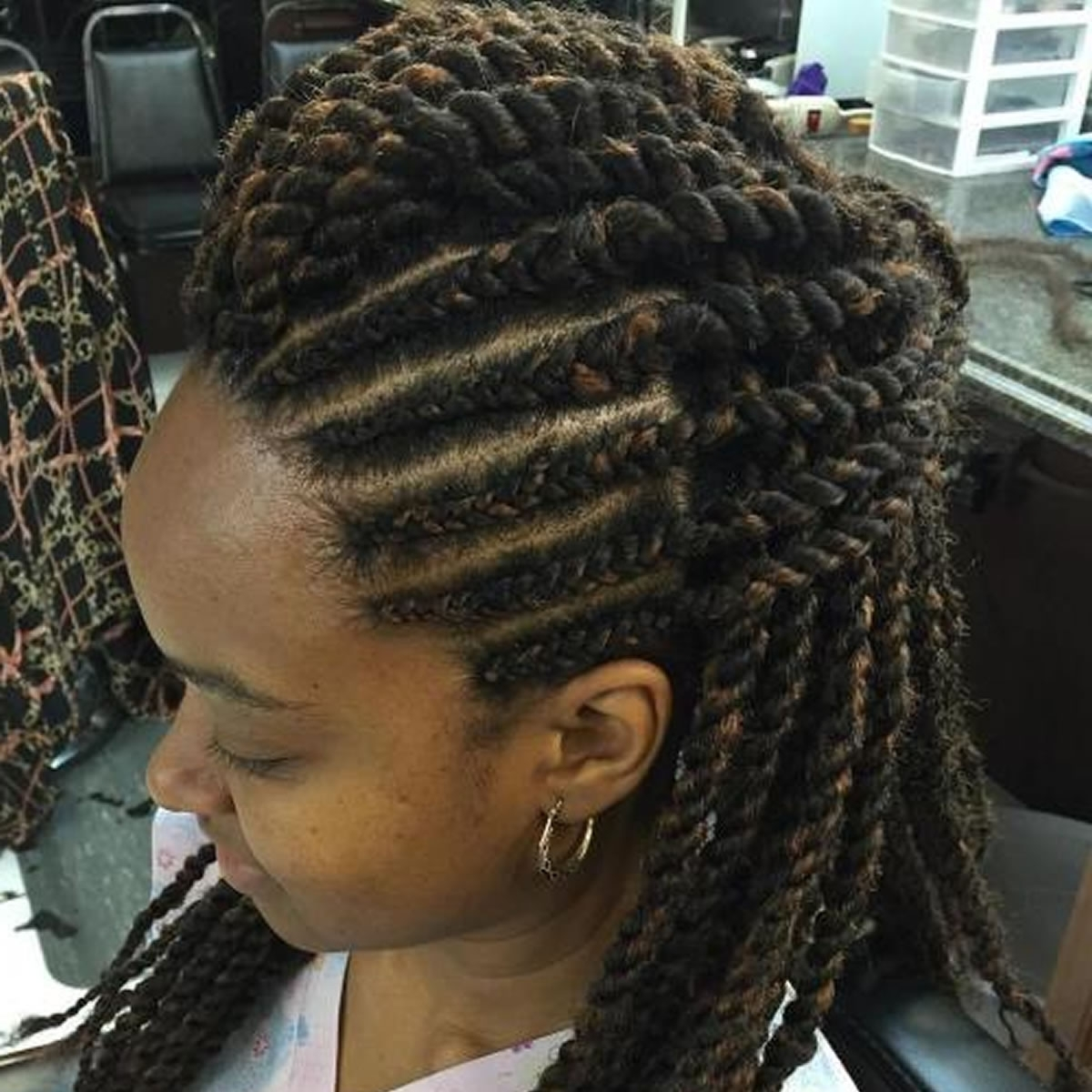 20 Best African American Braided Hairstyles For Women 2017 2018 For African Cornrows Updo Hairstyles (View 14 of 15)