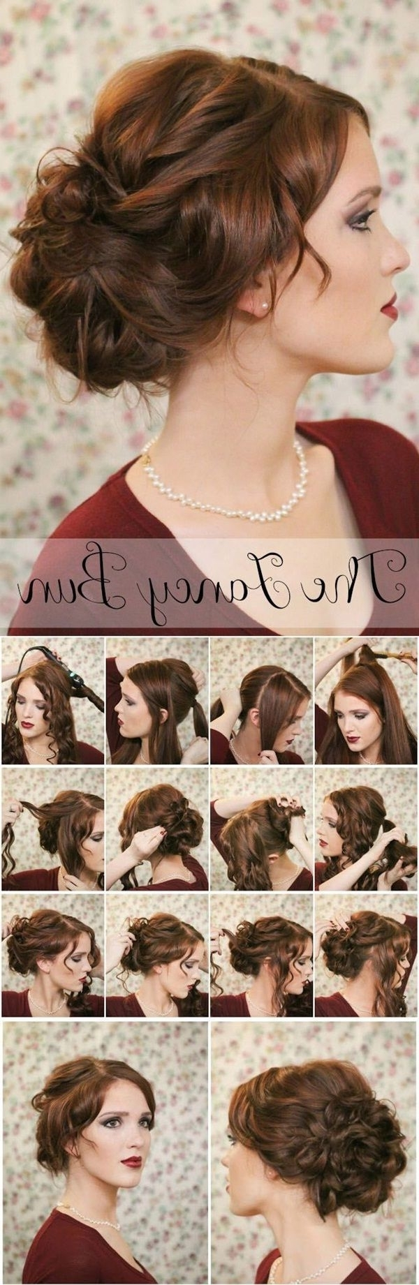 20 Diy Wedding Hairstyles With Tutorials To Try On Your Own With Easy Vintage Updo Hairstyles (View 14 of 15)