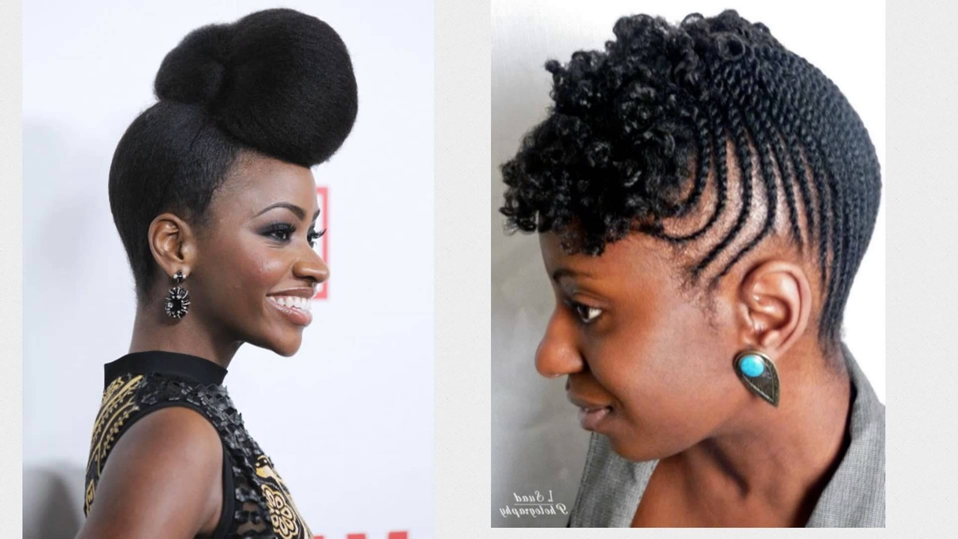 20 Easy And Awesome Updos For Black Women – Youtube With Black Ladies Updo Hairstyles (View 3 of 15)