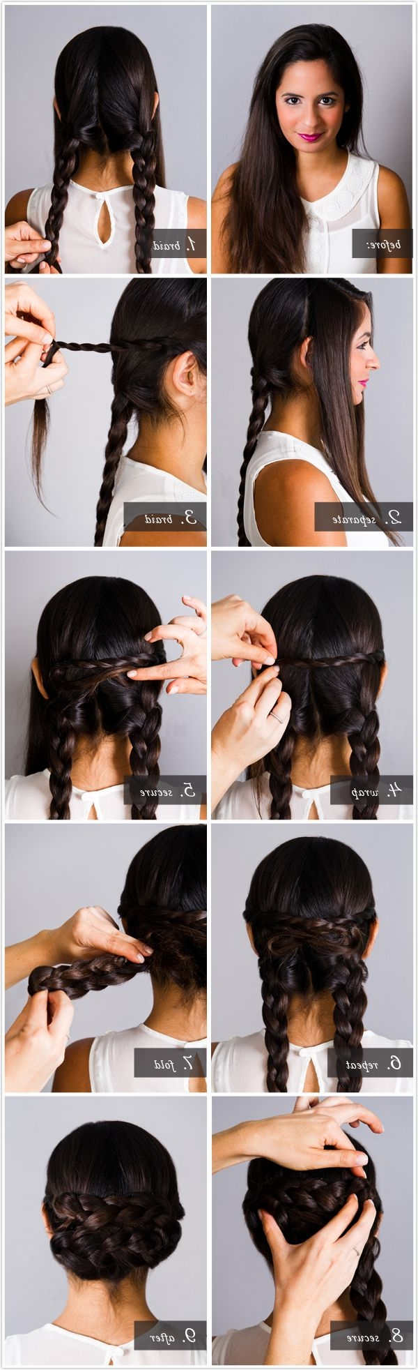 20 Exciting New Intricate Braid Updo Hairstyles – Popular Haircuts Inside Chignon Updo Hairstyles (View 4 of 15)