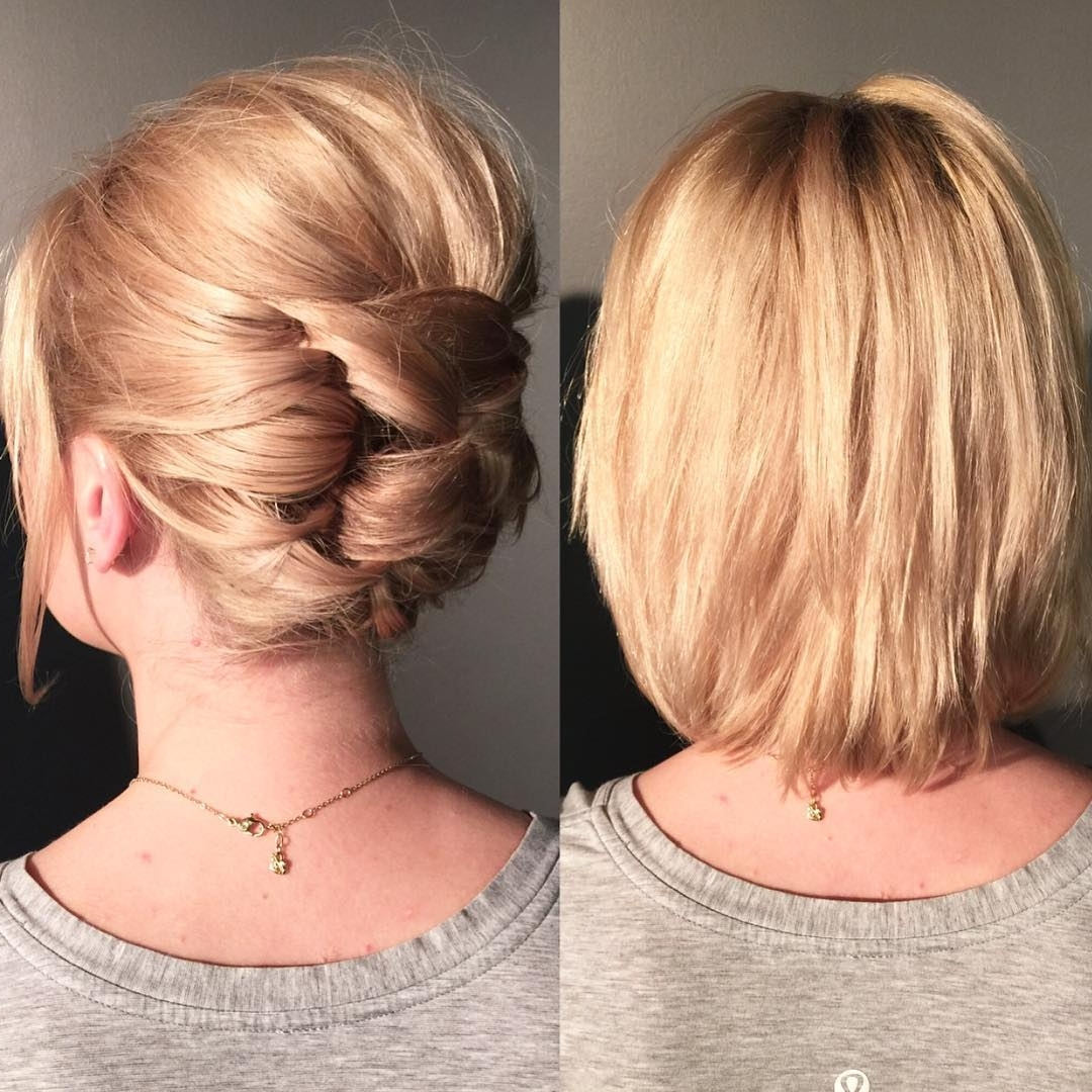 20 Gorgeous Prom Hairstyle Designs For Short Hair: Prom Hairstyles 2017 Within Formal Short Hair Updo Hairstyles (View 2 of 15)