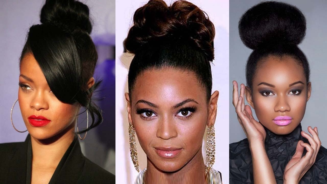 2016 Top 20 Updo Hairstyles For Black Women Being Elegant Like In Updo Hairstyles For Black Tie Event (View 3 of 15)