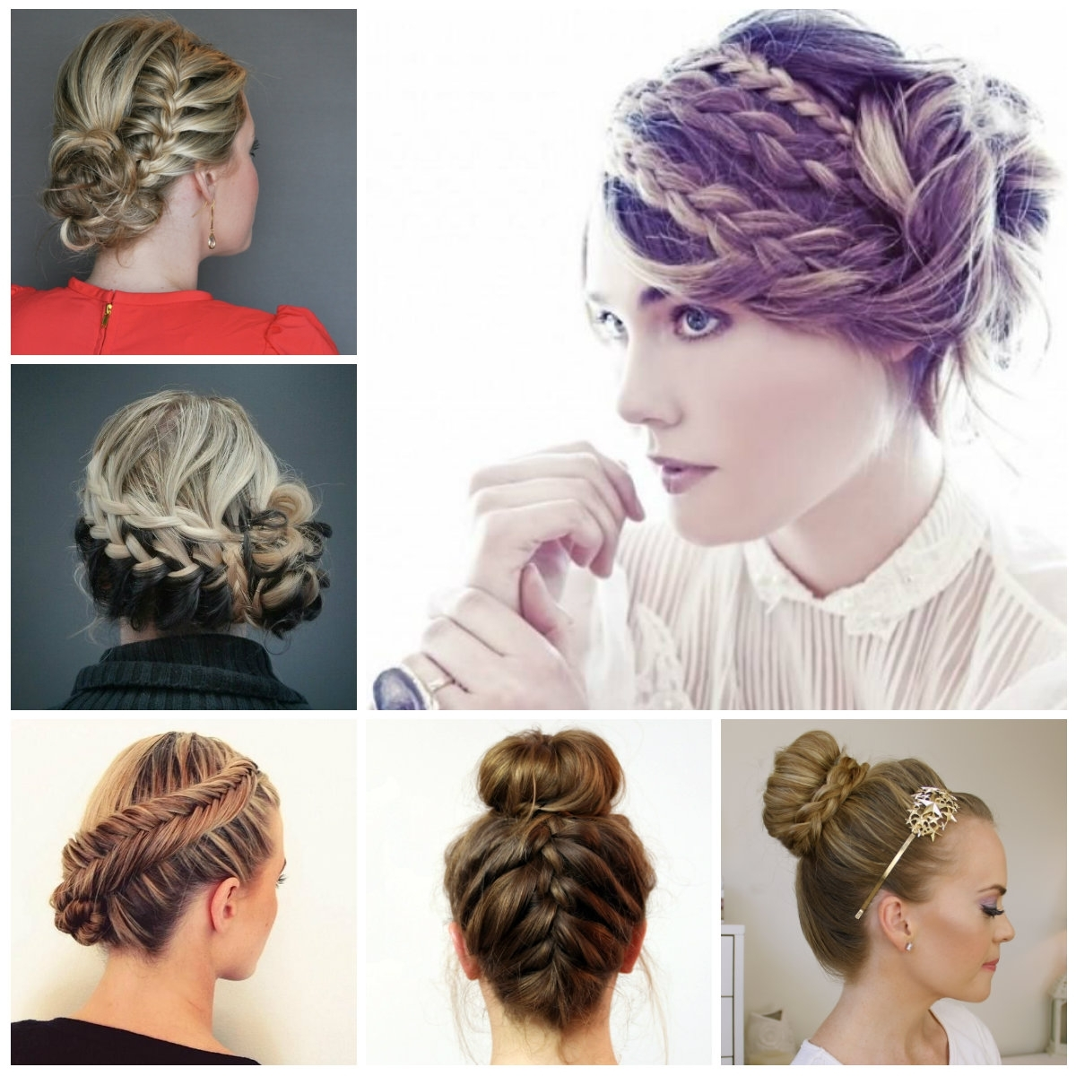 2017 Braided Hair Updo Hairstyles For Long Thin Hair Regarding Braided Hair Updo Hairstyles (View 13 of 15)