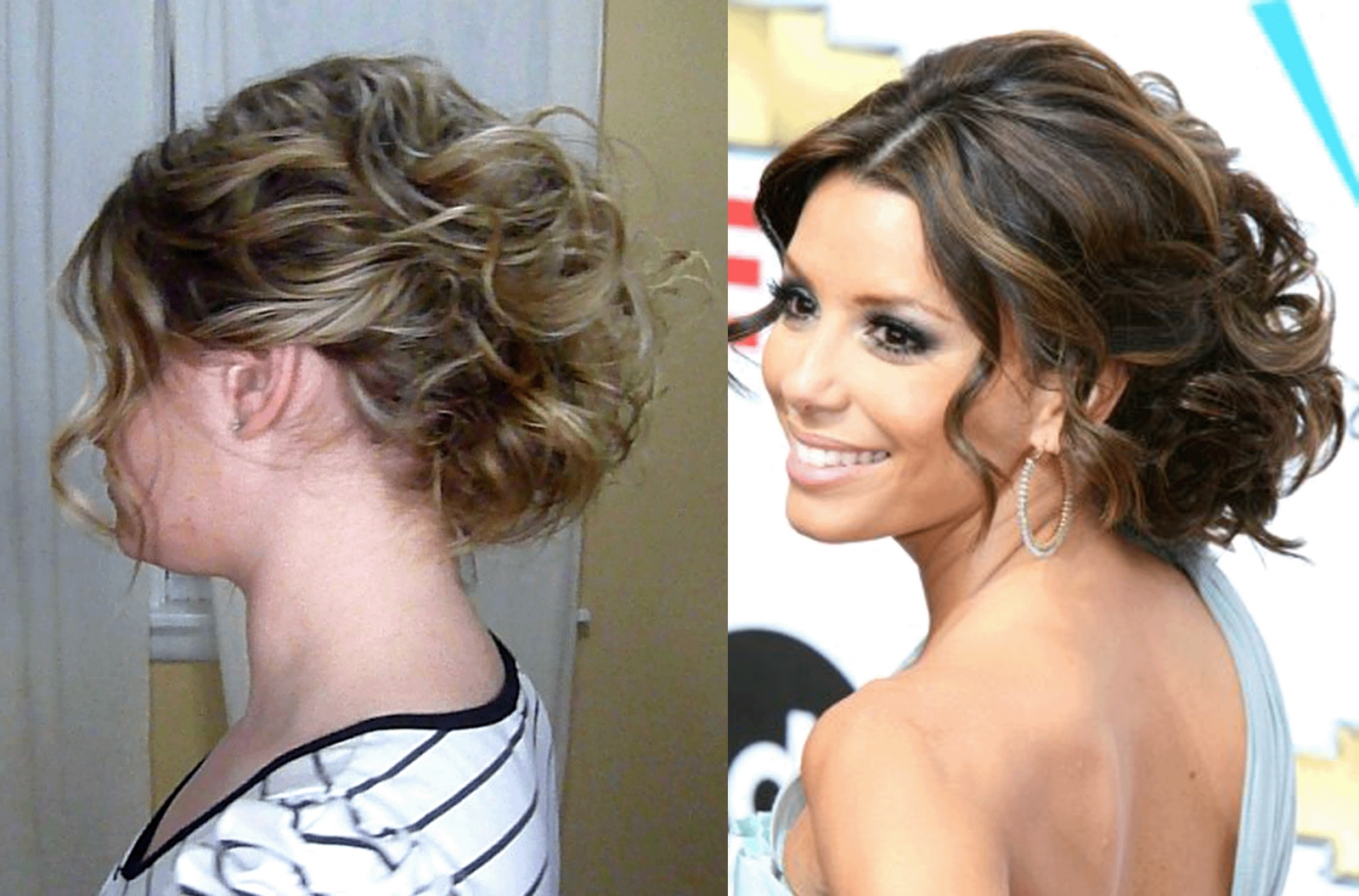 Photo Gallery Of Loose Updos For Curly Hair Viewing 14 Of