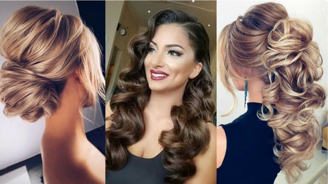 2018 Formal Hairstyle Ideas – Updo Hairstyles – Youtube Inside Dressy Updo Hairstyles (View 2 of 15)