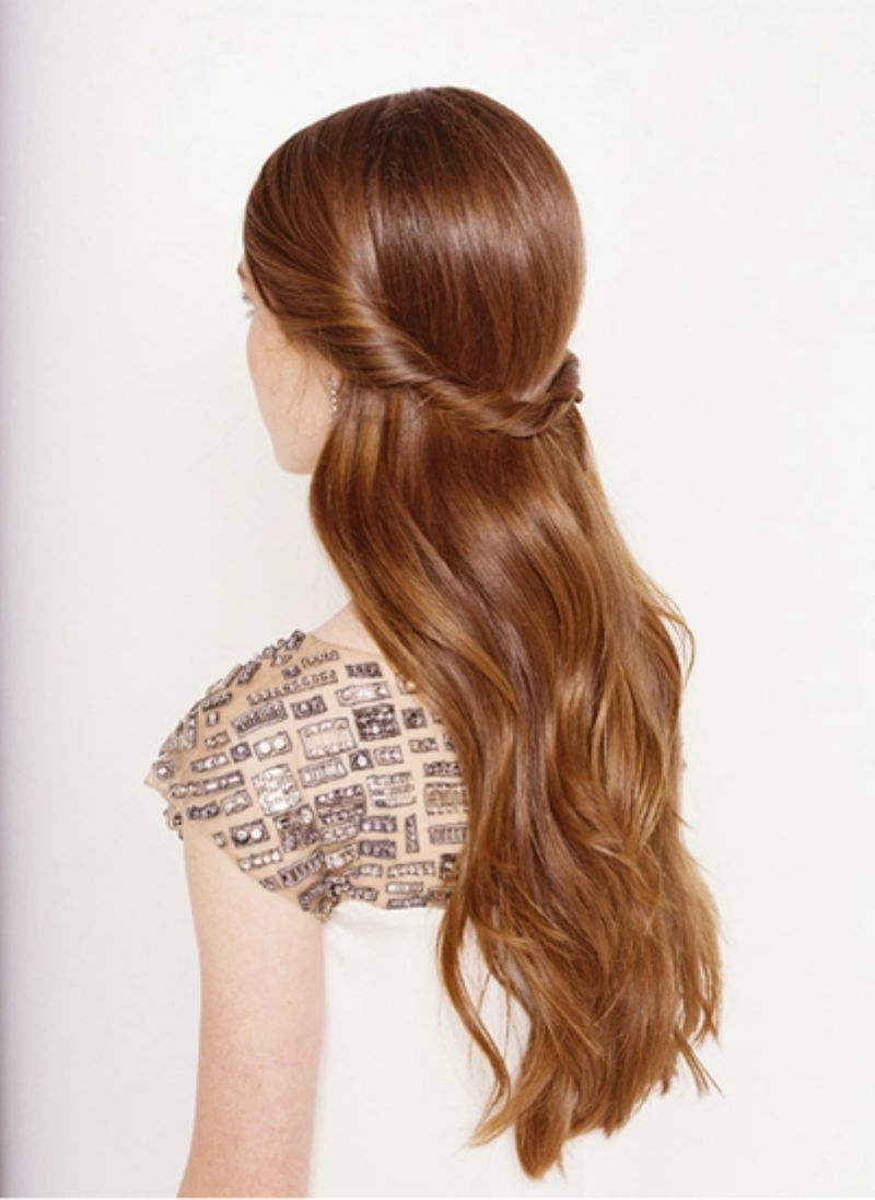 21 Gorgeous Half Up, Half Down Hairstyles | Babble In Long Hair Half Updo Hairstyles (View 5 of 15)