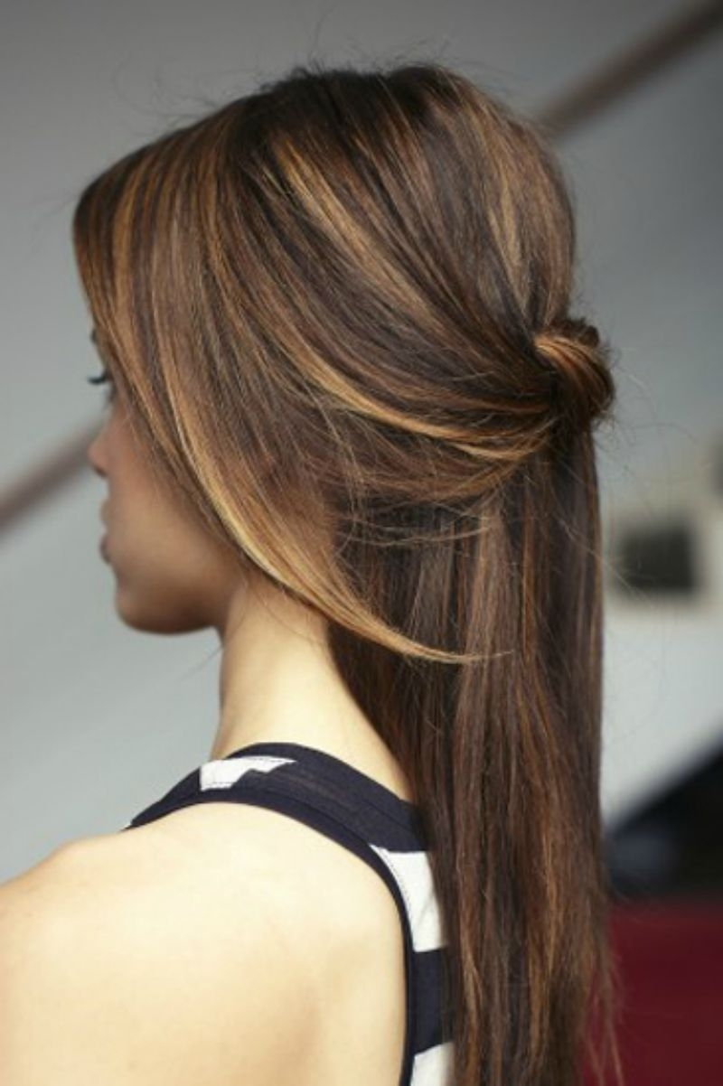 21 Gorgeous Half Up, Half Down Hairstyles | Babble Intended For Half Updos For Long Hair (View 7 of 15)