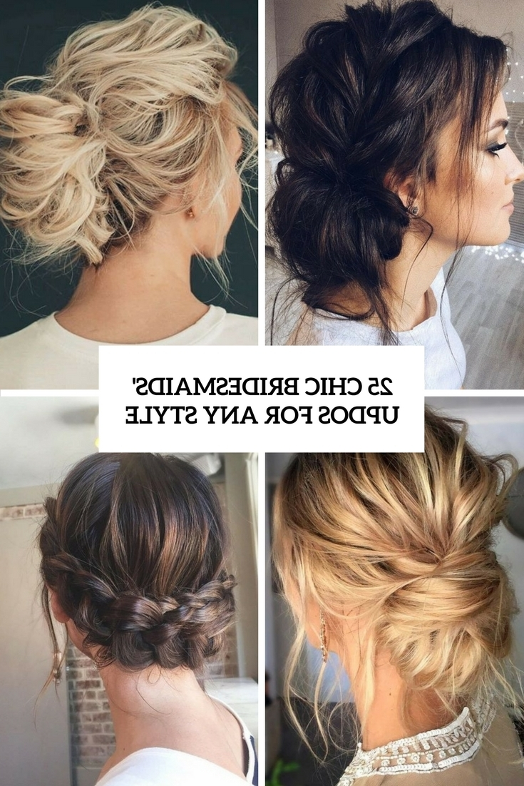 25 Chic Bridesmaids' Updos For Any Style – Weddingomania In Hairstyles For Bridesmaids Updos (View 1 of 15)