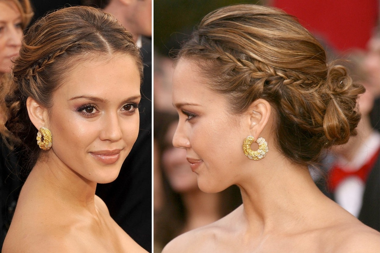 25 Of The Best Oscar Hairstyles Ever | Glamour Inside Cool Updo Hairstyles (View 2 of 15)
