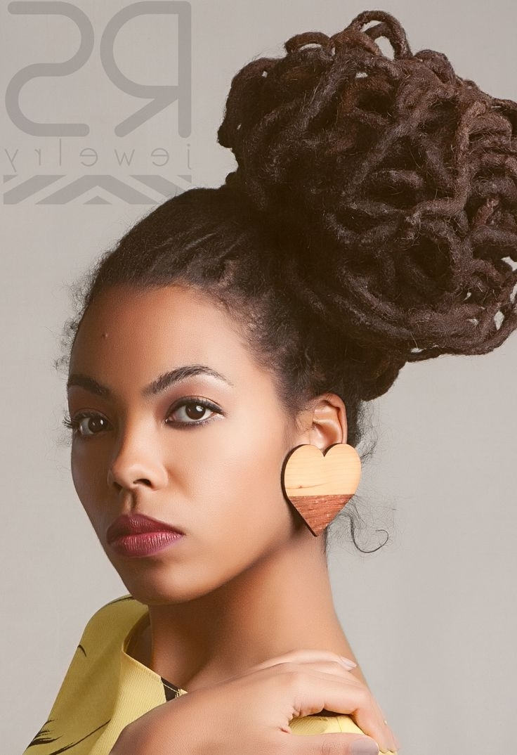 25 Updo Styles For Locs – Tgin In Dreadlock Updo Hairstyles (View 2 of 15)